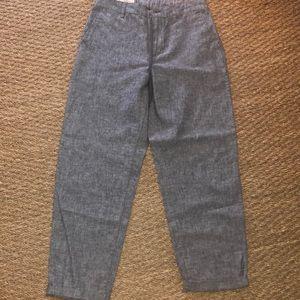 Uniqlo gray linen pants